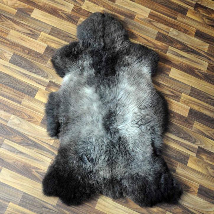 XL ÖKO Island Schaffell weiß schwarz geflammt 110x70 #5160