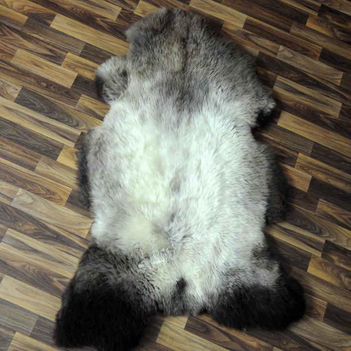 ÖKO Island Schaffell weiß schwarz geflammt 105x70 #5162