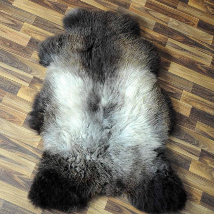 XL ÖKO Island Schaffell weiß schwarz geflammt 110x70 #5165