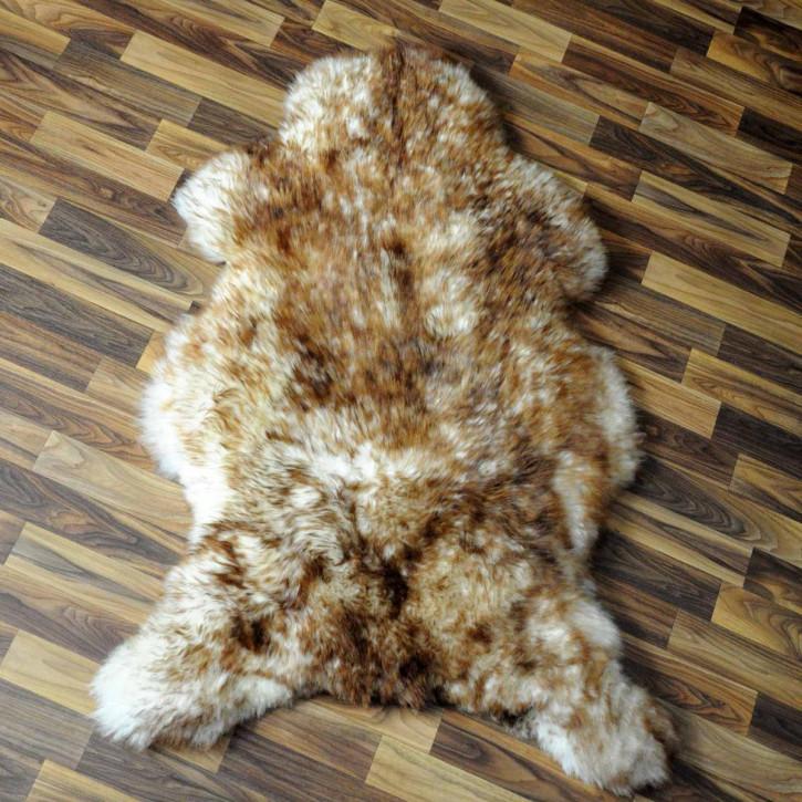 ÖKO Island Schaffell weiß schwarz geflammt 100x70 #5176
