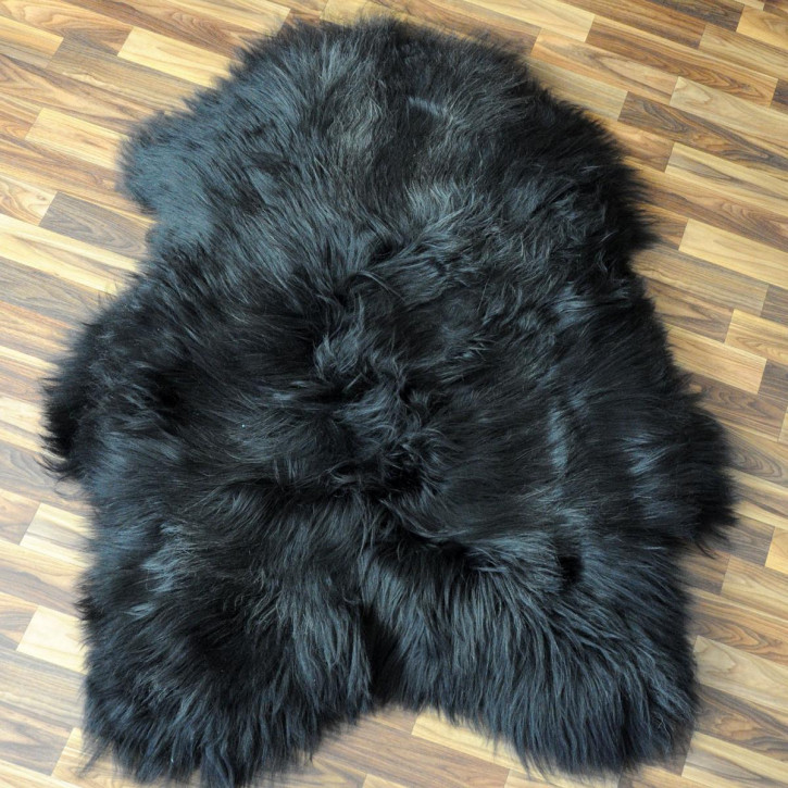 ÖKO Island Schaffell weiß schwarz geflammt 105x65 #5179