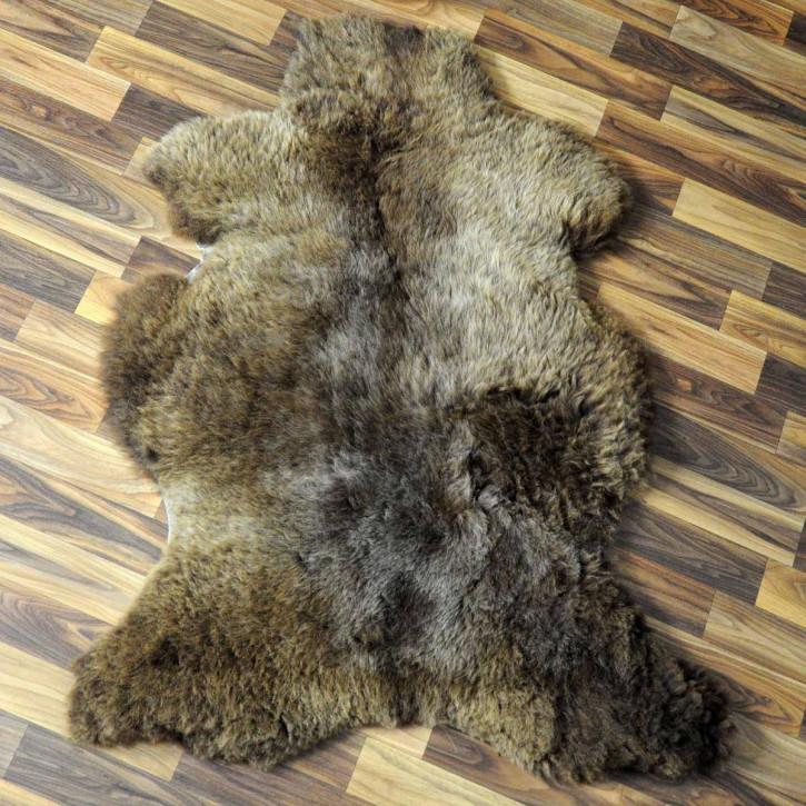 Island Schaffell grau 100x80 gelockt gefärbt sheepskin #5204