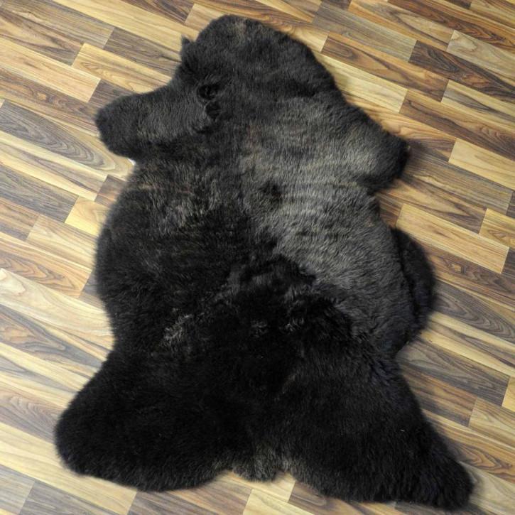 Island Schaffell grau 100x70 gelockt gefärbt sheepskin #5205
