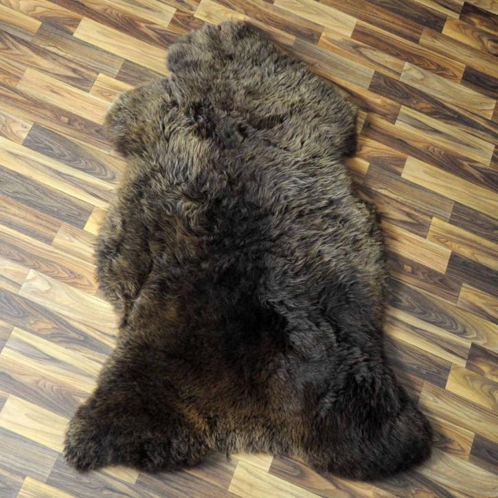 Island Schaffell grau 105x70 gelockt gefärbt sheepskin #5206