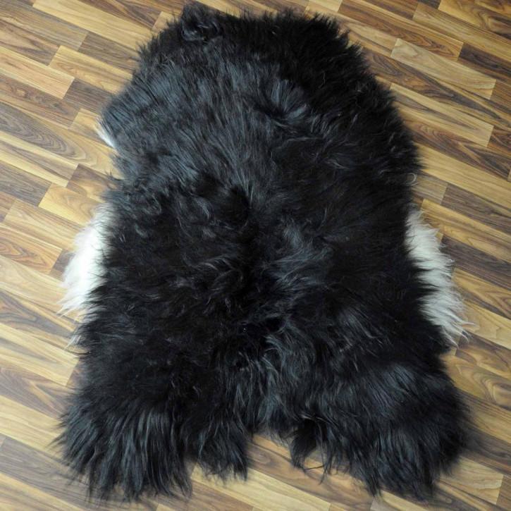 XL ÖKO Schaffell Fell Lammfell braun grau 115x75 Teppich #5270