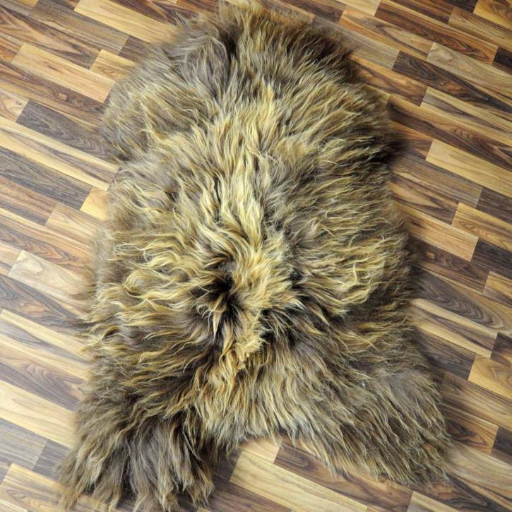 XL ÖKO Island Schaffell schwarzbraun weiß 115x80 #5289