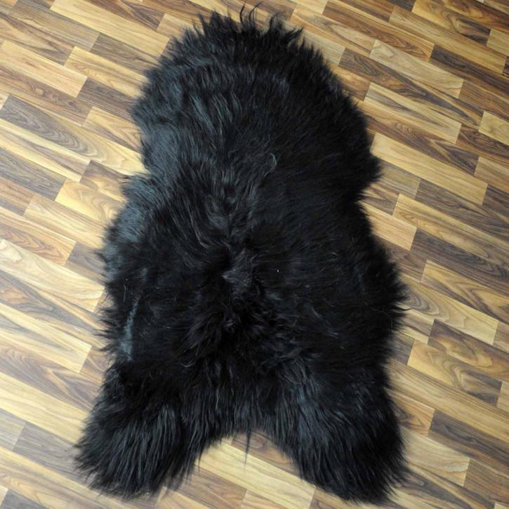 XXL ÖKO Island Schaffell schwarzbraun weiß 120x80 #5291