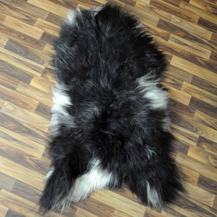 XXL ÖKO Island Schaffell schwarzbraun weiß 120x80 #5294