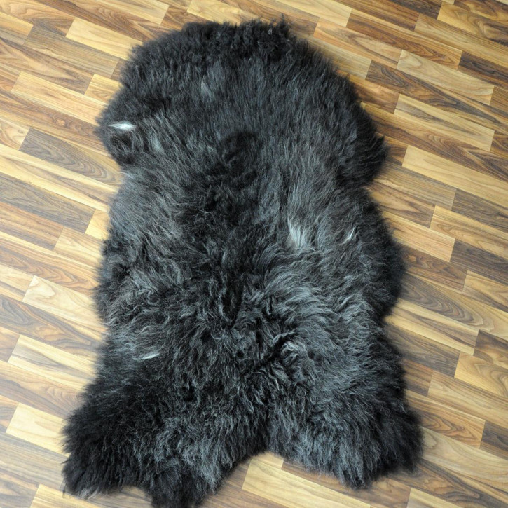 XXL ÖKO Island Schaffell schwarzbraun grau 120x85 #5295