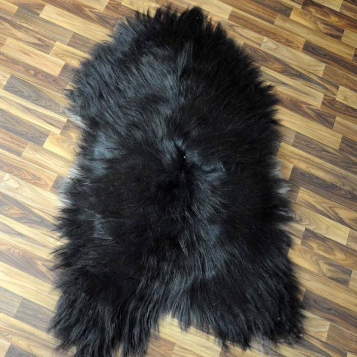 XL ÖKO Schaffell Fell Lammfell braun grau beige 115x75 Teppich #5299