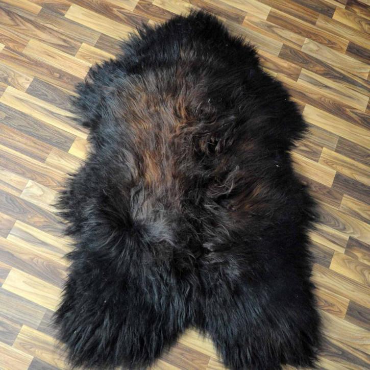 ÖKO Schaffell Fell Lammfell braun grau beige 105x75 Teppich #5314