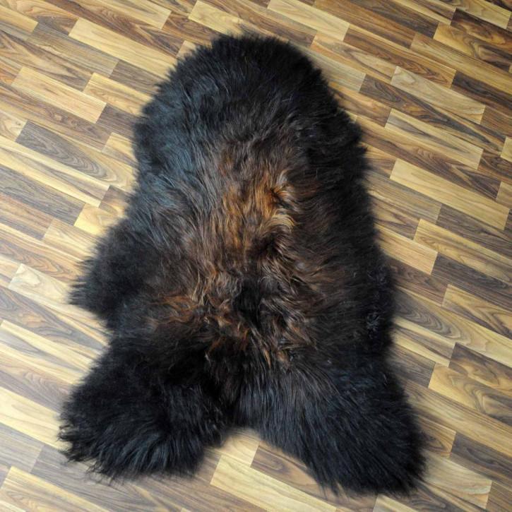 ÖKO Island Schaffell schwarzbraun weiß 105x80 Krampus #5330