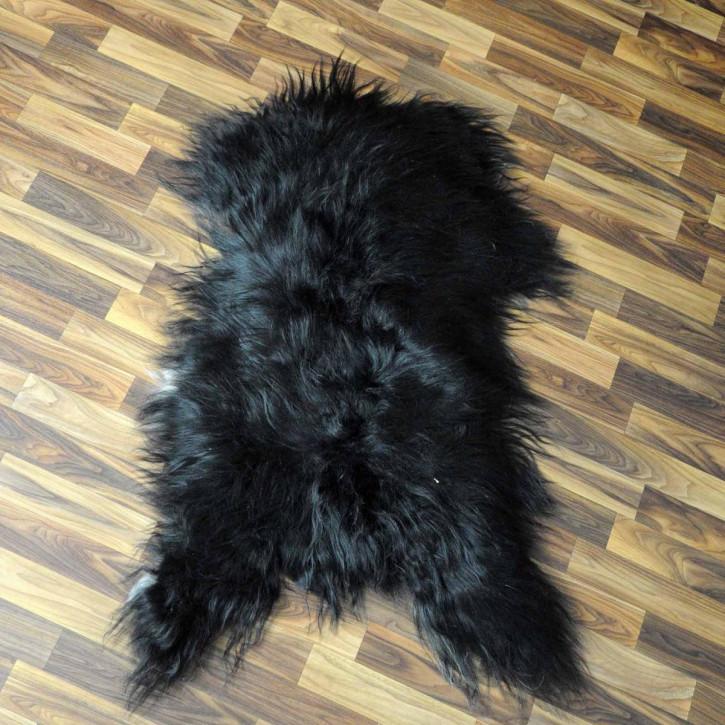 ÖKO Island Schaffell schwarzbraun weiß 105x70 Krampus #5331