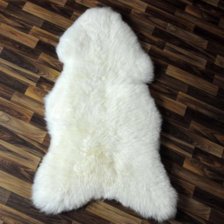XL ÖKO Island Schaffell weiß schwarz geflammt 110x75 #5403
