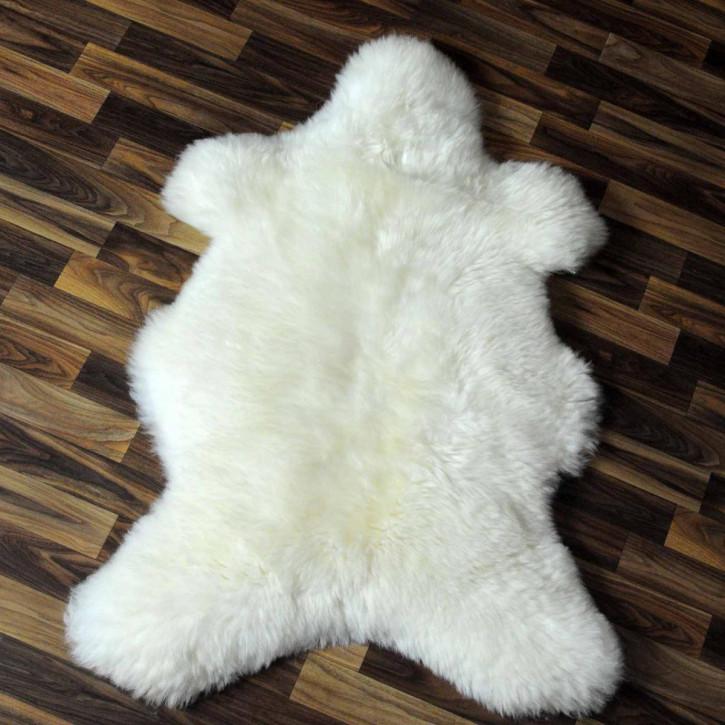 XL ÖKO Island Schaffell weiß schwarz geflammt 115x75 #5404