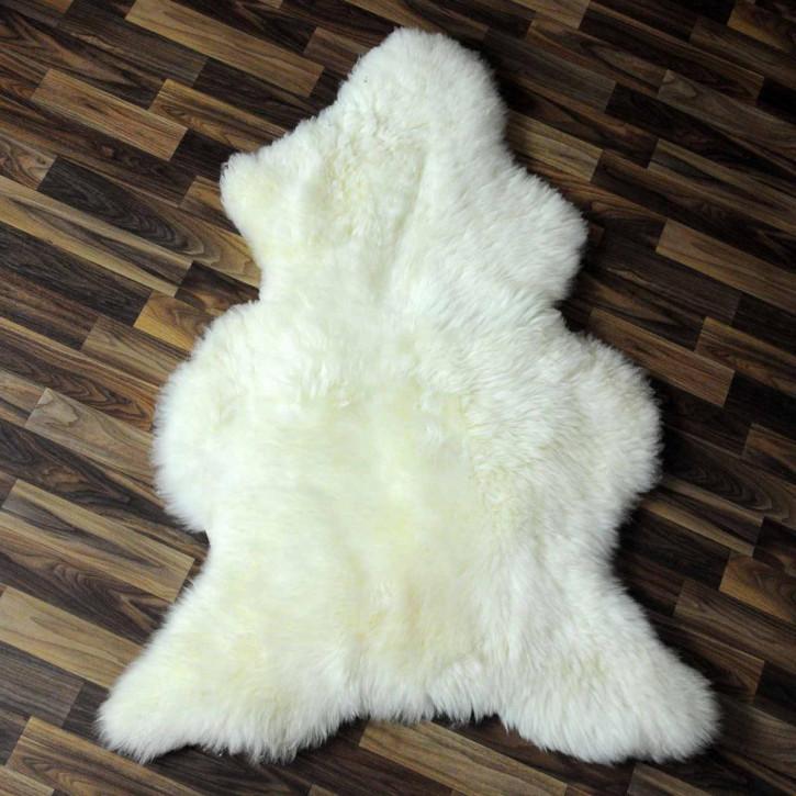 XL ÖKO Island Schaffell weiß schwarz geflammt 115x70 #5411