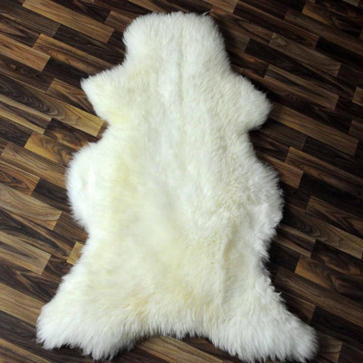 XL ÖKO Island Schaffell weiß schwarz geflammt 110x75 #5412