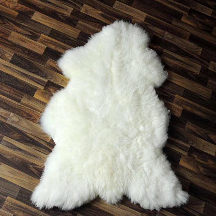 XL ÖKO Island Schaffell weiß schwarz geflammt 110x75 #5423