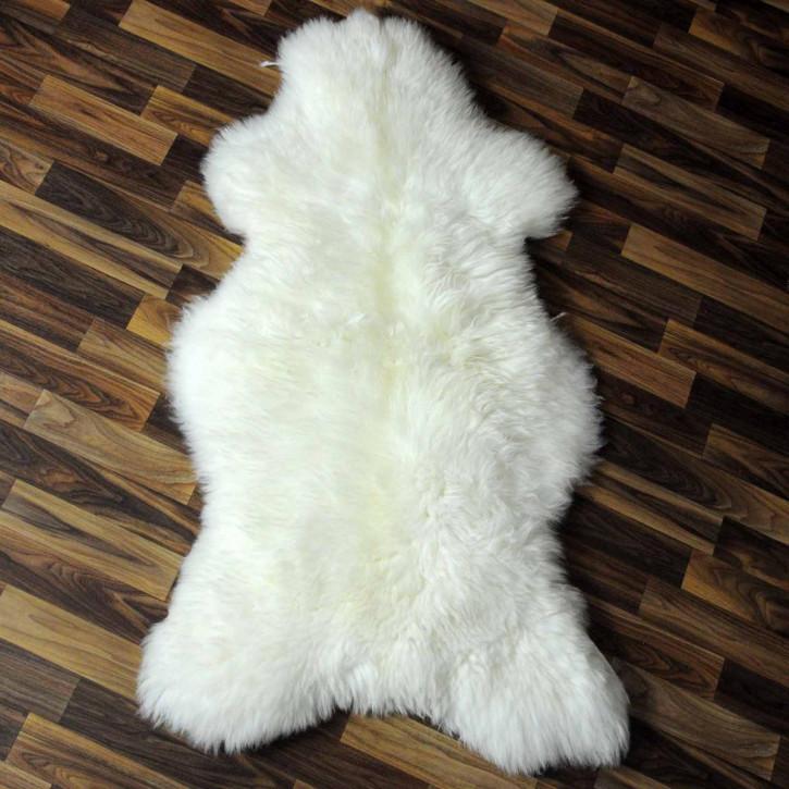 XL ÖKO Island Schaffell weiß schwarz geflammt 110x75 #5425