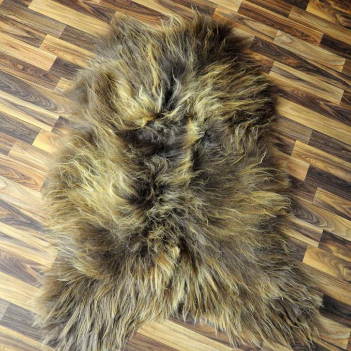 ÖKO Schaffell Lammfell Fell beige braun 105x70 #5453