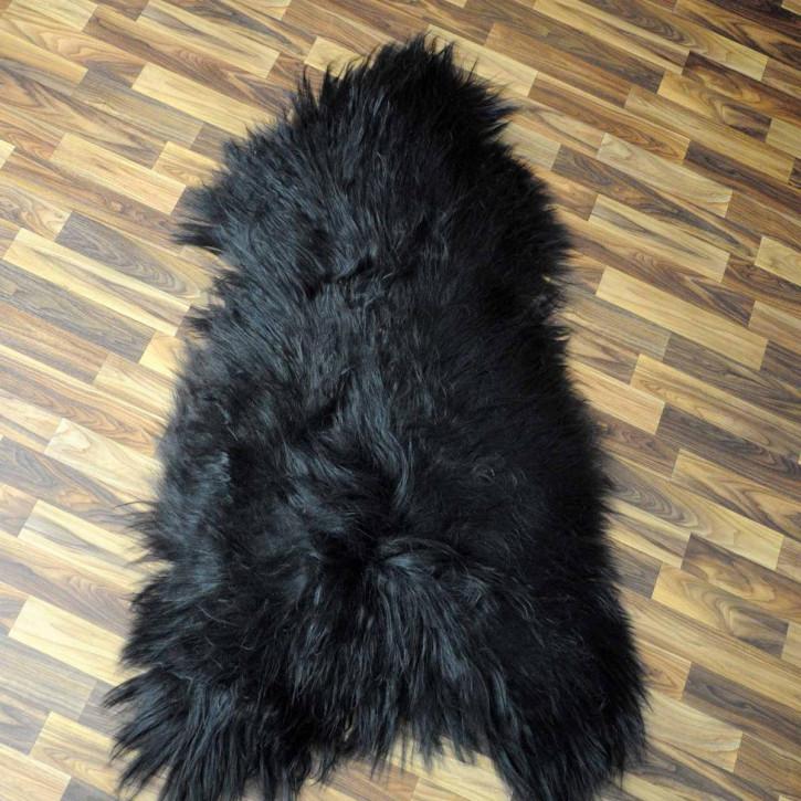 XXL ÖKO Island Schaffell schwarzbraun weiß 120x80 Fell Auflage #5468