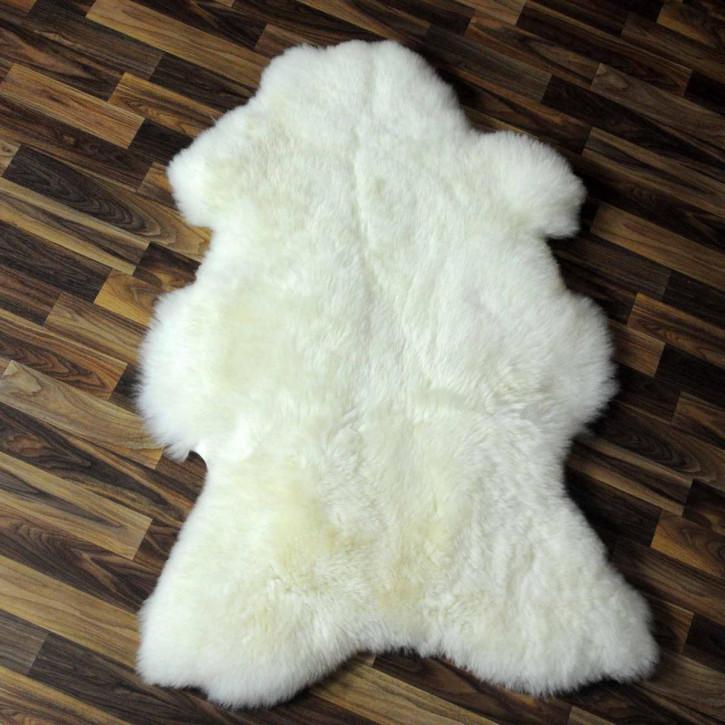 XL ÖKO Schaffell Fell Lammfell braun grau 115x75 Teppich #5486