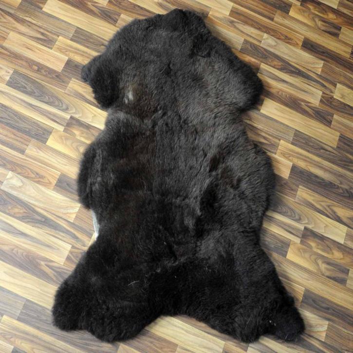 Ziegenfell Ziege Fell 110x70 Kamindeko goatskin gefärbt #5559