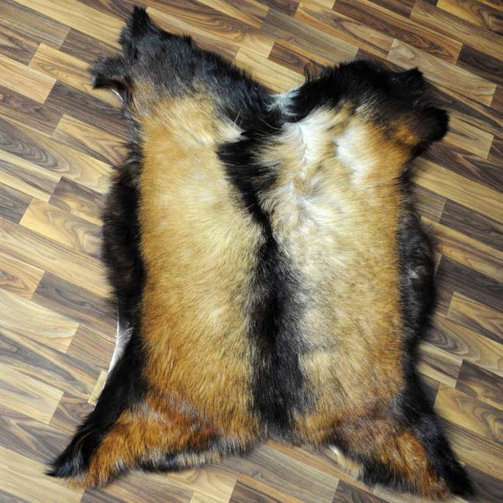 XXL ÖKO Schaffell Fell schwarzbraun grau 120x80 Auflage geschoren #5605