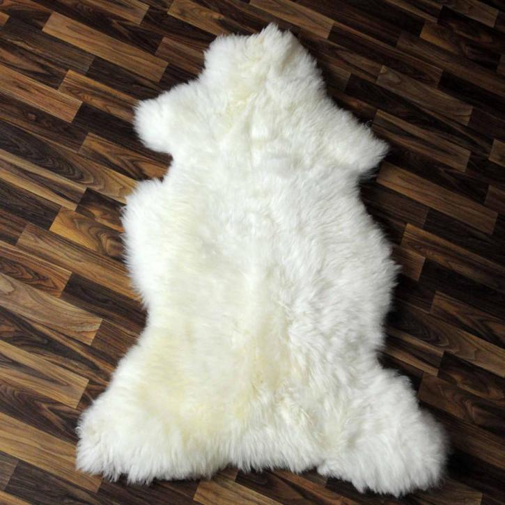 XL ÖKO Schaffell Fell creme weiß 110x85 Auflage #5662