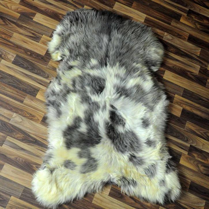 XXL ÖKO Island Schaffell creme weiß braun 120x70 echtes Fell #5853