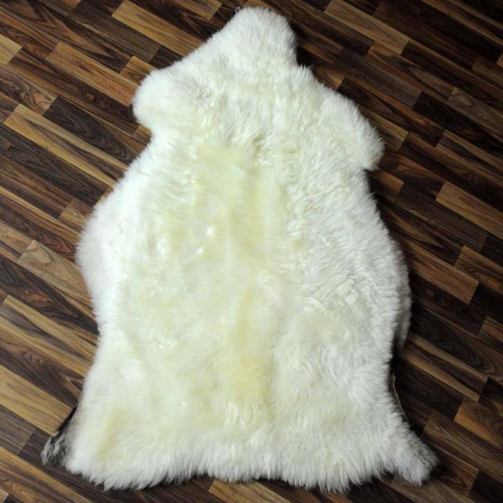XL ÖKO Schaffell Fell creme weiß 110x75 sheepskin #5886