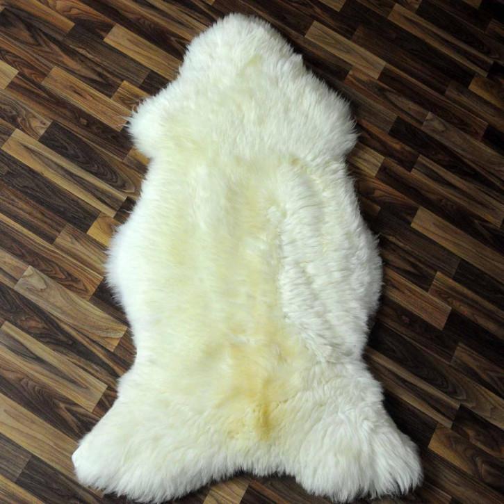 XXL ÖKO Schaffell Fell creme weiß 120x80 sheepskin #5887