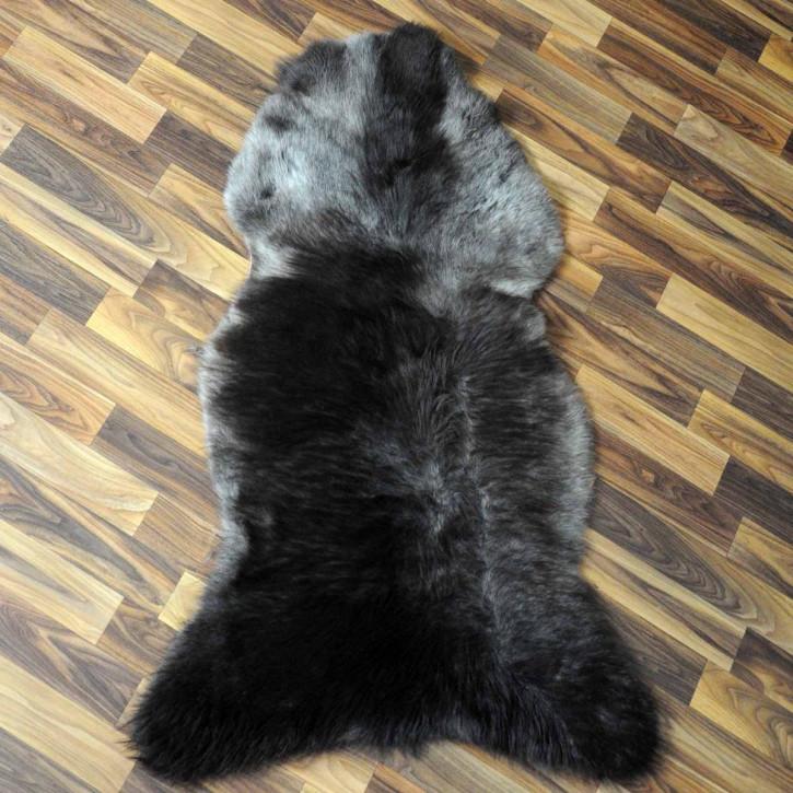 ÖKO Schaffell Fell Lammfell beige braun grau 105x70 Teppich #5903