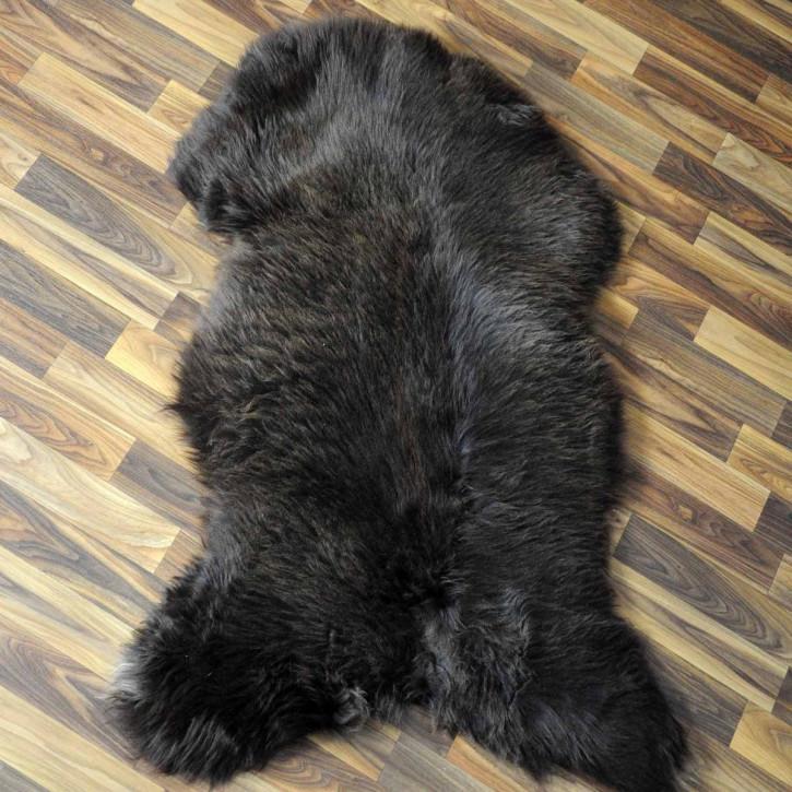 XL ÖKO Schaffell Fell Lammfell braun beige 110x70 Teppich #5908