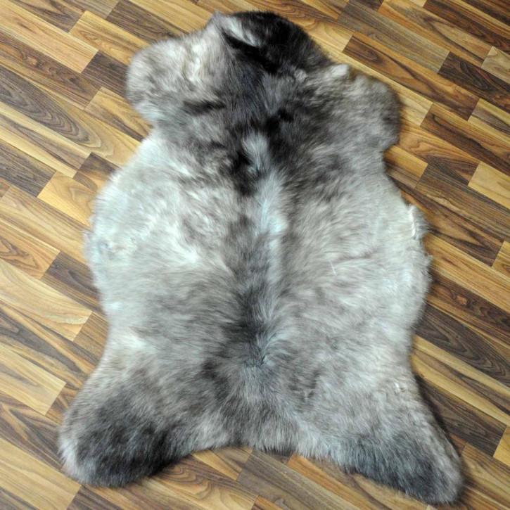 Island Schaffell grau schwarz geflammt 105x65 Auflage #5922