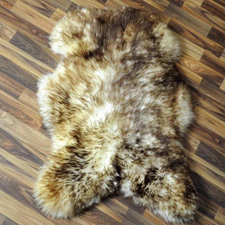 XL Schaffell Lammfell Fell creme weiß braun 115x70 #6030