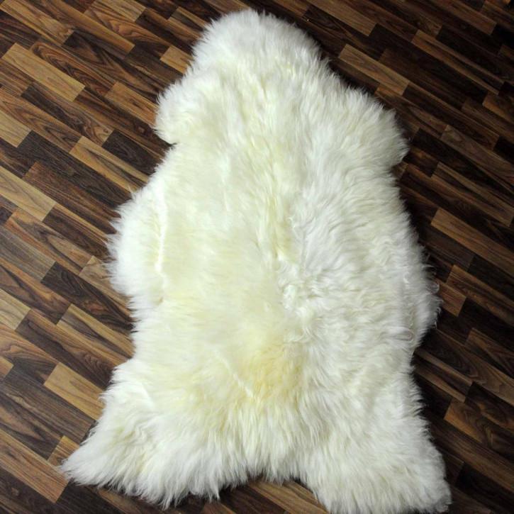 XXL Schaffell Lammfell Fell creme weiß 120x80 #6041