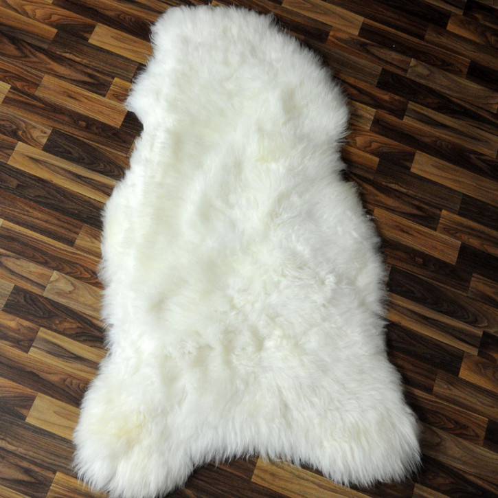 XXL Schaffell Lammfell Fell creme weiß 120x75 #6047