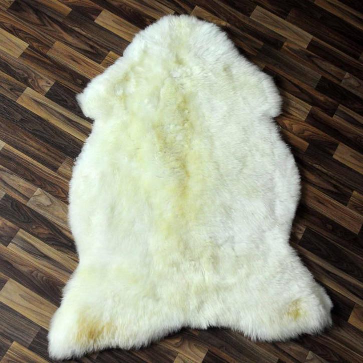 XXL Schaffell Lammfell Fell creme weiß 120x70 #6070