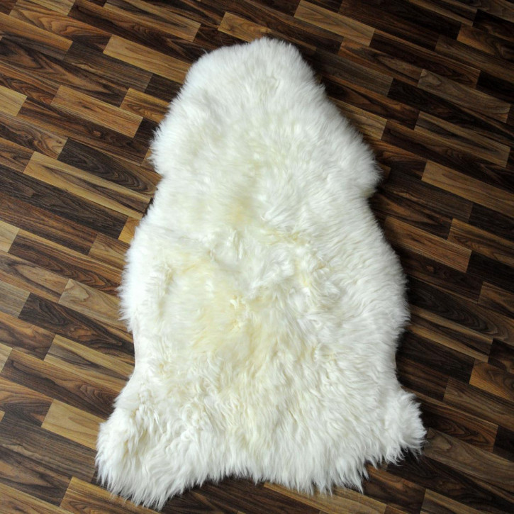 XL Schaffell Lammfell Fell creme weiß 110x70 #6072