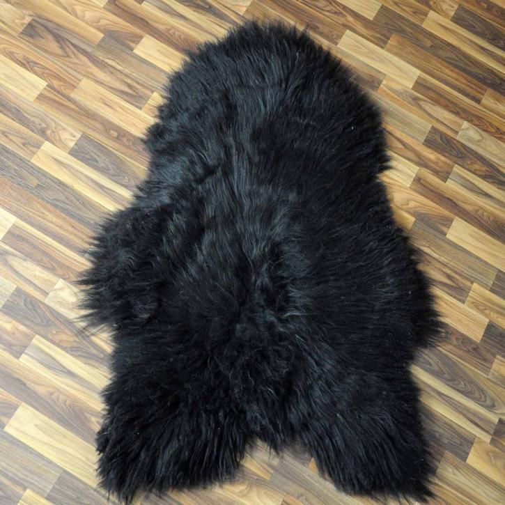 XXXL ÖKO Island Schaffell braun weiß 130x75 Krampus Perchten #6094