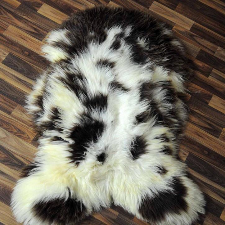Schaffell Fell Lammfell beige braun 105x70 Teppich #6117