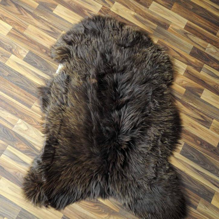 Schaffell Fell Lammfell braun 100x65 Teppich #6168