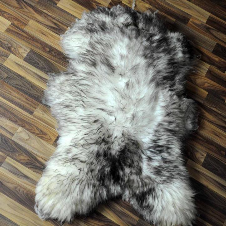 ÖKO Schaffell Fell Lamm beige braun grau 105x70 #6256