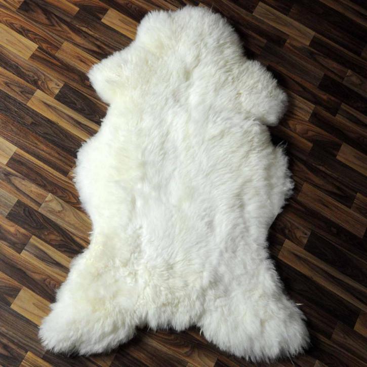 XXL ÖKO Schaffell Fell creme weiß 125x80 sheepskin #6334