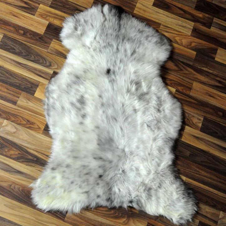 XL Island Schaffell grau 110x80 gelockt gefärbt sheepskin #6411