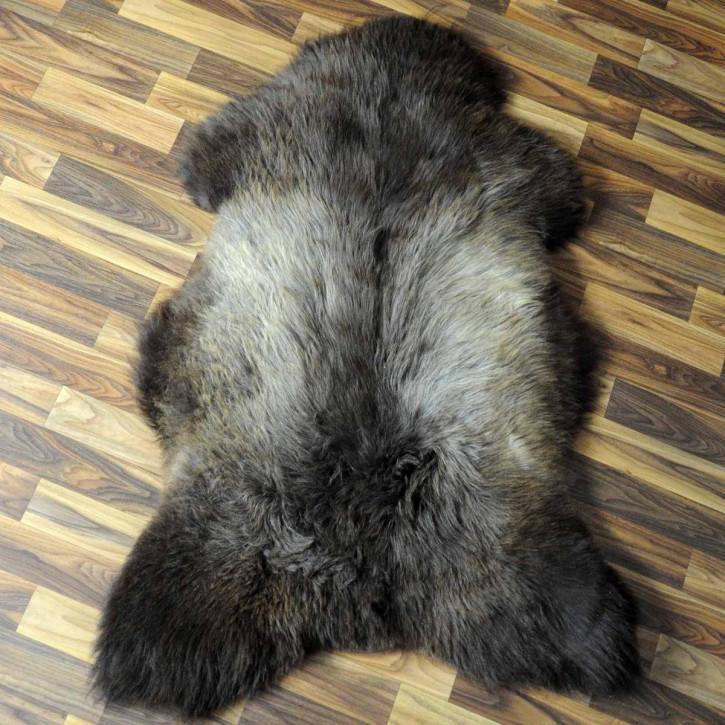 XL Island Schaffell grau 110x85 gelockt gefärbt sheepskin #6421