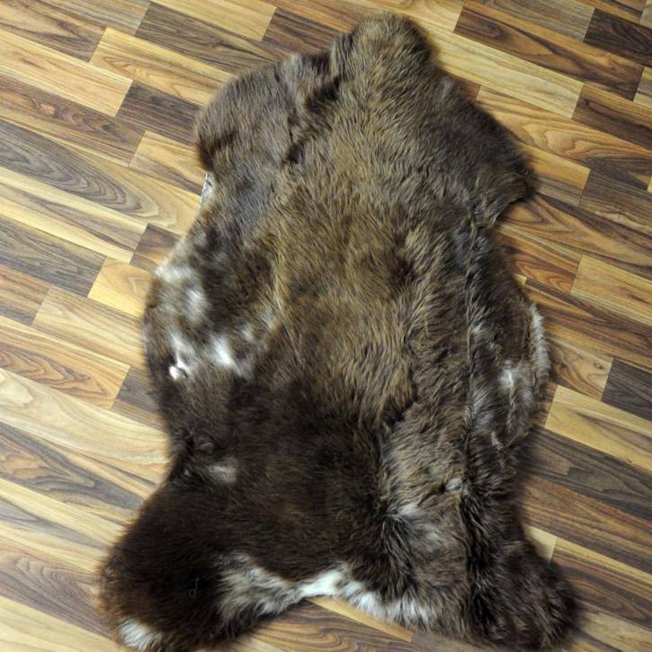 Island Schaffell grau 100x70 gelockt gefärbt sheepskin #6425