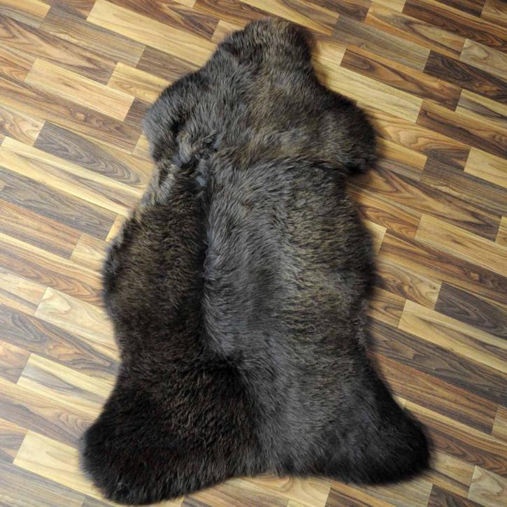 XL ÖKO Schaffell Fell Lamm beige braun grau 110x70 #6470