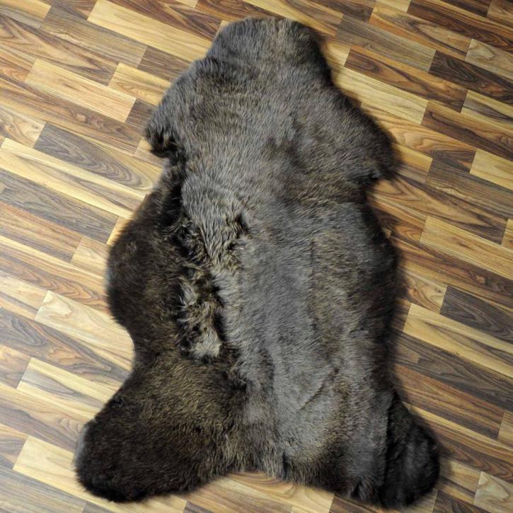 ÖKO Schaffell Fell Lamm beige braun grau 105x70 #6471